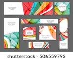 set of web banner templates for ...   Shutterstock .eps vector #506559793