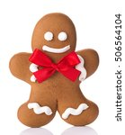 gingerbread man isolated on... | Shutterstock . vector #506564104