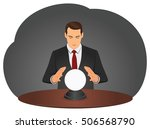 businessman is foretelling... | Shutterstock .eps vector #506568790