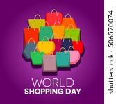 world shopping day | Shutterstock .eps vector #506570074
