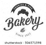 vector hand lettering bakery... | Shutterstock .eps vector #506571598