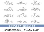 set of elegant vector swirls.... | Shutterstock .eps vector #506571604