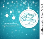 vintage merry christmas and...   Shutterstock .eps vector #506572174