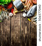 Fresh Seafood. A Variety Of...