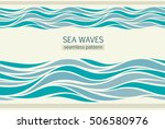 seamless patterns with stylized ... | Shutterstock .eps vector #506580976