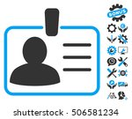 personal badge pictograph with... | Shutterstock . vector #506581234