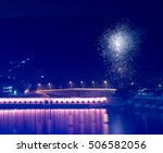 fireworks on holy pushkar lake  ... | Shutterstock . vector #506582056