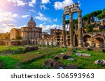 Forum Of Caesar In Rome  Italy...