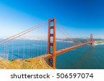 view at golden gate bridge... | Shutterstock . vector #506597074