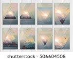 stock vector set of brochures... | Shutterstock .eps vector #506604508