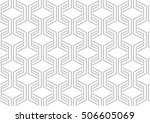 abstract geometric pattern with ... | Shutterstock .eps vector #506605069