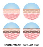 step of the white turn to black ... | Shutterstock .eps vector #506605450