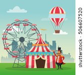 activities of carnival and... | Shutterstock .eps vector #506607520