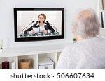 close up of grandmother... | Shutterstock . vector #506607634