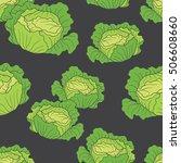 fresh vegetables hand drawn...   Shutterstock .eps vector #506608660