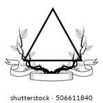 triangle tattoo art design | Shutterstock .eps vector #506611840