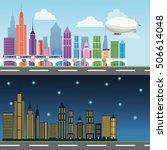 buildings of big city design | Shutterstock .eps vector #506614048