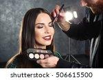 professional makeup artist... | Shutterstock . vector #506615500