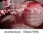 data analyzing in forex market... | Shutterstock . vector #506617096