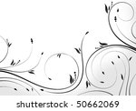 floral scroll  element for... | Shutterstock .eps vector #50662069