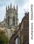 Small photo of York Minster from Precentor's Court, York, England
