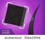 dry hair vector . damaged | Shutterstock .eps vector #506625946