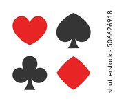 playing cards suits. spades ... | Shutterstock .eps vector #506626918