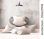 mockup pillows in the interior. ... | Shutterstock . vector #506629048