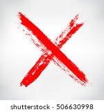hand drawn x mark.grunge letter ... | Shutterstock .eps vector #506630998
