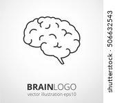 simple human brain logo. brain... | Shutterstock .eps vector #506632543