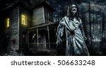 Horror Zombie Near The...
