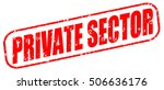 private sector red stamp on... | Shutterstock . vector #506636176