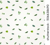 pattern made of greenery ... | Shutterstock . vector #506638690
