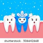christmas teeth character...   Shutterstock .eps vector #506642668