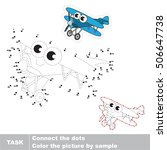 funny toy biplane in vector to... | Shutterstock .eps vector #506647738