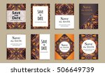 save the date. set of cards...   Shutterstock .eps vector #506649739