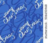 vector of christmas seamless... | Shutterstock .eps vector #506650468