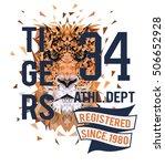 tigers tee graphic | Shutterstock .eps vector #506652928