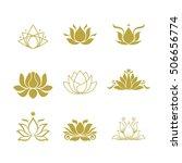 lotus flower logo | Shutterstock .eps vector #506656774