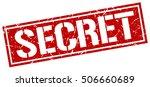secret. grunge vintage secret... | Shutterstock .eps vector #506660689