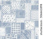 vector abstract seamless doodle ... | Shutterstock .eps vector #506661898