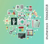 medical flat icons set... | Shutterstock .eps vector #506662018