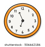 wall clock. a hand drawn vector ...