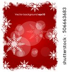 christmas winter red background ... | Shutterstock .eps vector #506663683