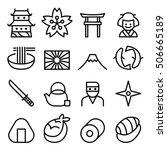 basic japan icon   symbol in... | Shutterstock .eps vector #506665189