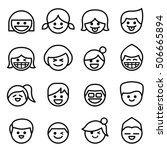 happy face   smile face icon... | Shutterstock .eps vector #506665894