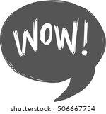 vector illustration of a speech ... | Shutterstock .eps vector #506667754