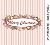 christmas card poster banner... | Shutterstock .eps vector #506669080