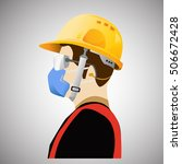 safety equipment  construction... | Shutterstock .eps vector #506672428