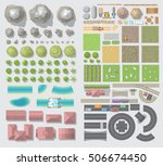 set of landscape elements.... | Shutterstock .eps vector #506674450